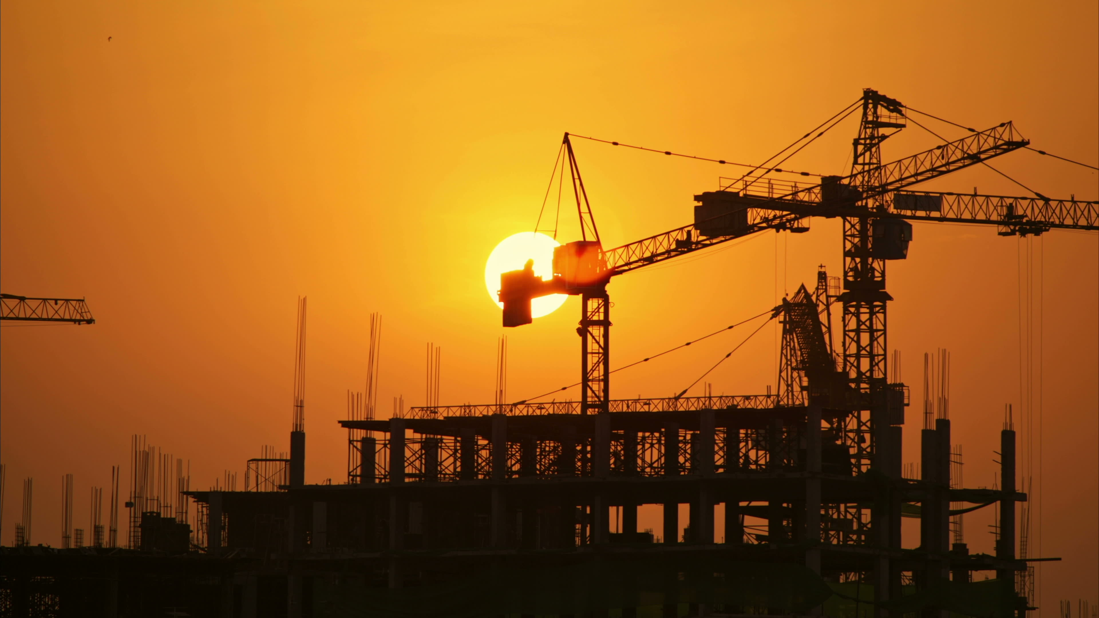 stock-footage-construction-site-at-sunset-time-lapse
